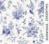 seamless pattern. autumn floral ...   Shutterstock .eps vector #1553397491