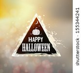 happy halloween label    with... | Shutterstock .eps vector #155344241