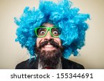 Crazy Funny Bearded Man With...