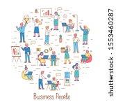 business people  teamwork line... | Shutterstock .eps vector #1553460287