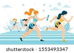 cartoon athlete women... | Shutterstock .eps vector #1553493347