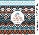 hipster seamless tribal pattern ... | Shutterstock .eps vector #155350994