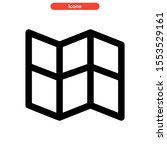 brochure icon isolated sign... | Shutterstock .eps vector #1553529161