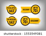 sale button set for website and ... | Shutterstock .eps vector #1553549381