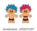 Hairy Troll Figures Vector....