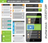 web design elements for flat...