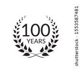 100 years anniversary logo with ...   Shutterstock .eps vector #1553587481