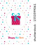 christmas and new year card in... | Shutterstock .eps vector #1553599061