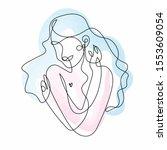 woman hugging herself in...   Shutterstock .eps vector #1553609054