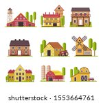 Farmhouses. Traditional Farm...