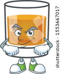 whiskey in the glass with... | Shutterstock .eps vector #1553667017