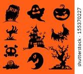 vector halloween icons | Shutterstock .eps vector #155370227