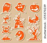 vector halloween icons | Shutterstock .eps vector #155370239