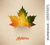 Vector Autumnal Maple Leaf...