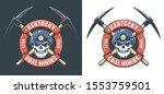 miner skull in hardhat and... | Shutterstock .eps vector #1553759501