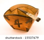 old japanese rice bowl and...   Shutterstock . vector #15537679