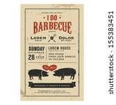 vintage 'i do' barbecue wedding ... | Shutterstock .eps vector #155383451