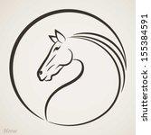 Stock vector horse symbol 155384591
