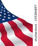usa flag with copy space | Shutterstock .eps vector #155384897