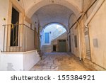 alleyway. noci. puglia. italy. | Shutterstock . vector #155384921