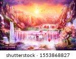 Oriental Background  Digital...