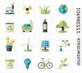 eco friendly icons | Shutterstock .eps vector #155386901