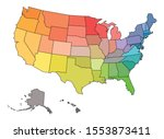 blank map of usa  united states ... | Shutterstock .eps vector #1553873411