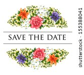 wedding invitation   Shutterstock .eps vector #155388041