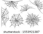 vector illustration of a cobweb ... | Shutterstock .eps vector #1553921387