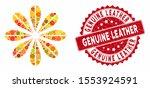 mosaic flower and grunge stamp... | Shutterstock .eps vector #1553924591