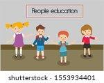 cartoon early childhood...   Shutterstock . vector #1553934401