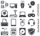 icons set about computer and... | Shutterstock .eps vector #155393501
