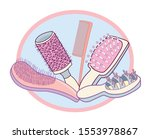 collection of hair combs and...   Shutterstock .eps vector #1553978867