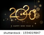 happy new year 2020   new year  ... | Shutterstock .eps vector #1554019847