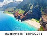 View On Na Pali Coast On Kauai...