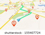 navigation map | Shutterstock .eps vector #155407724
