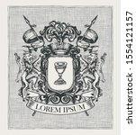 vector heraldic coat of arms in ... | Shutterstock .eps vector #1554121157