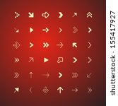 vector arrows set isolated on... | Shutterstock .eps vector #155417927
