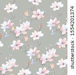 watercolor flowers set it's...   Shutterstock . vector #1554201374