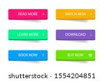 set of modern 3d button for... | Shutterstock .eps vector #1554204851