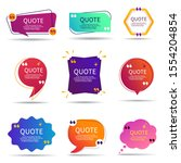set of speech quote text box of ... | Shutterstock .eps vector #1554204854