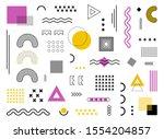 memphis design geometric... | Shutterstock .eps vector #1554204857