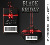 black friday sales tags with... | Shutterstock . vector #1554210944