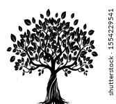 abstract black and white tree...   Shutterstock . vector #1554229541