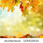 autumn background  | Shutterstock . vector #155423414