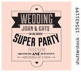 set of wedding typography   Shutterstock .eps vector #155431199