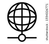 globe online icon. outline...