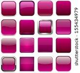 set of blank magenta square... | Shutterstock .eps vector #155434979