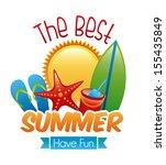 summer design over white... | Shutterstock .eps vector #155435849