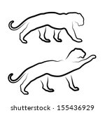 cat silhouette on a white... | Shutterstock .eps vector #155436929